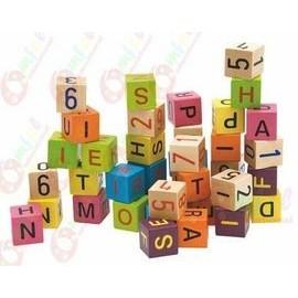 Cuburi colorate cu cifre si litere