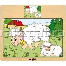 Set puzzle de lemn cu animale