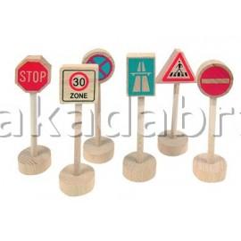 Semne de circulatie pentru copii din lemn
