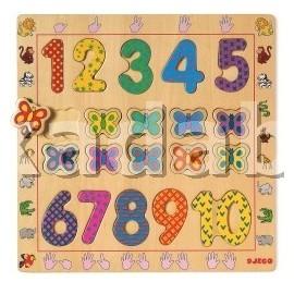 Puzzle din lemn cu cifre