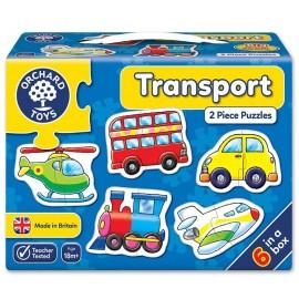 Puzzle 2 piese cu masini pentru baieti de1 an si jumatate