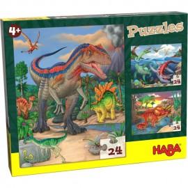 Puzzle cu dinozauri pentru copii