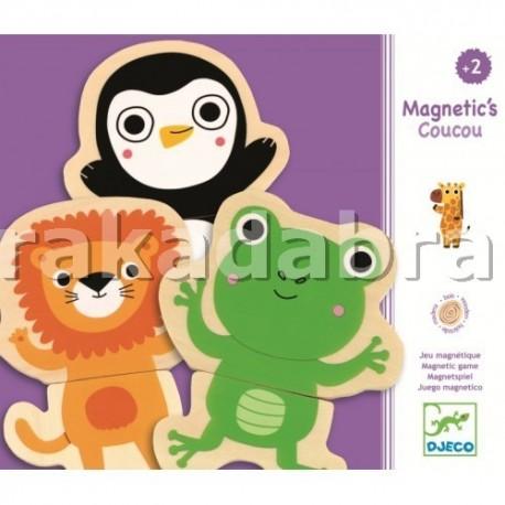 Joc cu magneti Djeco Animale - 2 piese