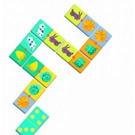 joc domino cu animale pentru copii
