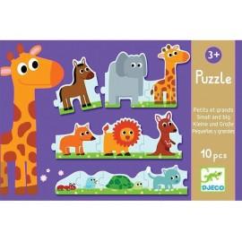 Joc educativ de ordonare Puzzle duo Djeco De la mic la mare