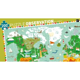 Puzzle harta lumii cu 200 piese