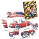Joc cu puzzle de imaginatie si creativitate cu masinute MaCar