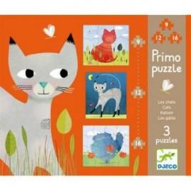 Set puzzle-uri Djeco pisicute