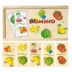 Joc domino din lemn cu fructe
