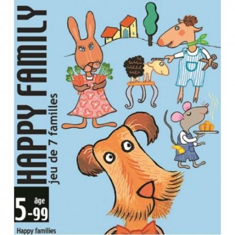 Joc de carti cu familii Djeco Happy family