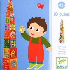 Piramida din cuburi cu masini Djeco