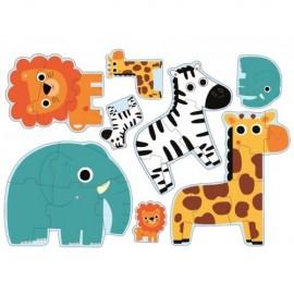 Puzzle progresiv Djeco In jungla