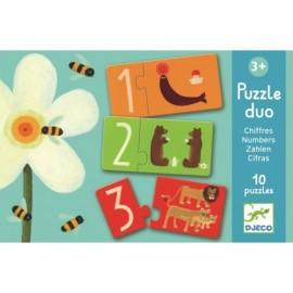 Joc educativ puzzle cu numere Djeco