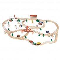 Set mare circuit tren de lemn