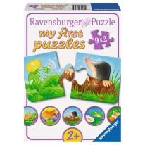 Puzzle cu animale dragute pentru copii mici