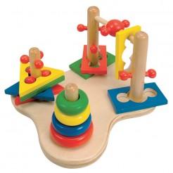 Joc de motricitate 3D din lemn