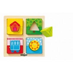 Puzzle sortare forme