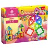 Joc de constructie magnetic Colorful World Set