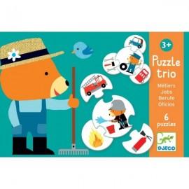 Puzzle trio Djeco meserii
