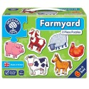 Puzzle 2 piese cu animale domestice copii 2 ani