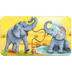 Puzzle cu 2 piese animale adorabile