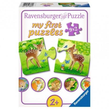 Puzzle simplu cu animalute