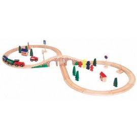 Circuit de tren din lemn
