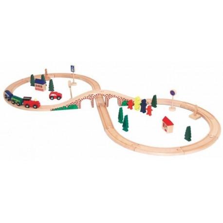 Trenulet de lemn cu sine