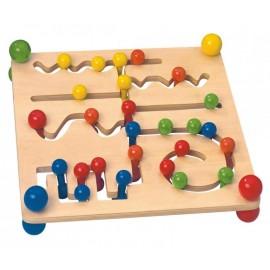 Joc labirint de lemn Montessori