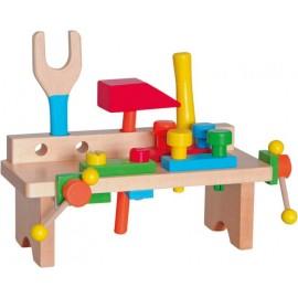 Banc de lucru din lemn pentru copii