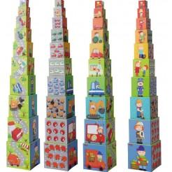 Turn din cuburi cu masinute