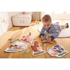 Puzzle HABA piese mari copii 2 ani animale domestice