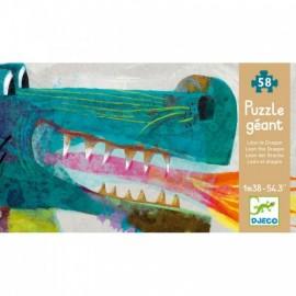 Puzzle podea gigant Djeco Dragon