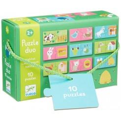 Joc de asociere puzzle 2 piese Habitat