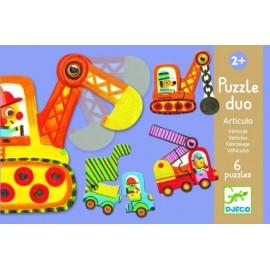 Puzzle 2 piese cu masini mobile