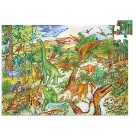Puzzle observatie cu dinozauri