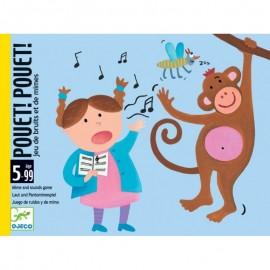 Joc Pantomime cu carti Pouet Pouet Djeco