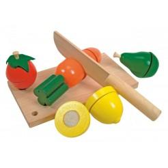 Jucarie cu fructe de lemn