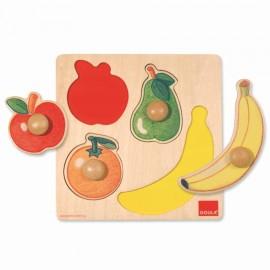 Puzzle incastru cu fructe