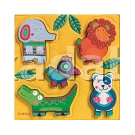 Puzzle Djeco lemn si fetru Nouki