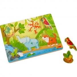 Puzzle cu sunete Animale din jungla