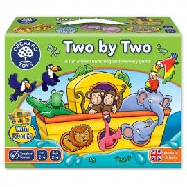 Joc de memorie pentru copii cu animale Doi cate doi