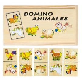 Joc domino din lemn cu animale domestice