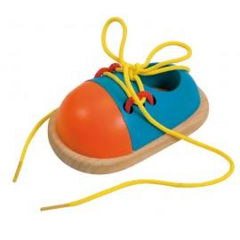 Jucarie pantofior din lemn