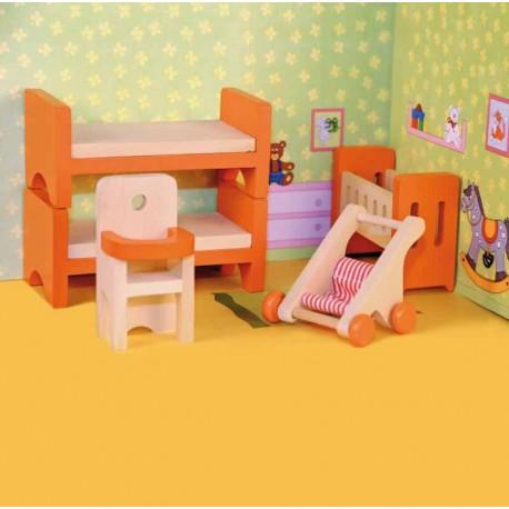 Jucarii lemn pentru papusi camera copilului