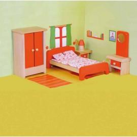 Jucarii lemn pentru papusi - mobilier dormitor