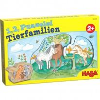 Puzzle cu familii de animale