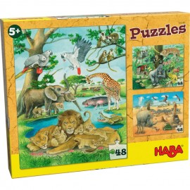 Puzzle animale salbatice din Africa