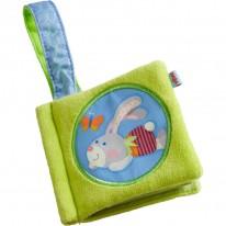 Carte bebelusi material textil - Iepuras