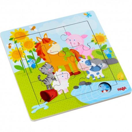 Puzzle lemn cu animale
